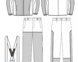 Технический рисунок костюма сварщика